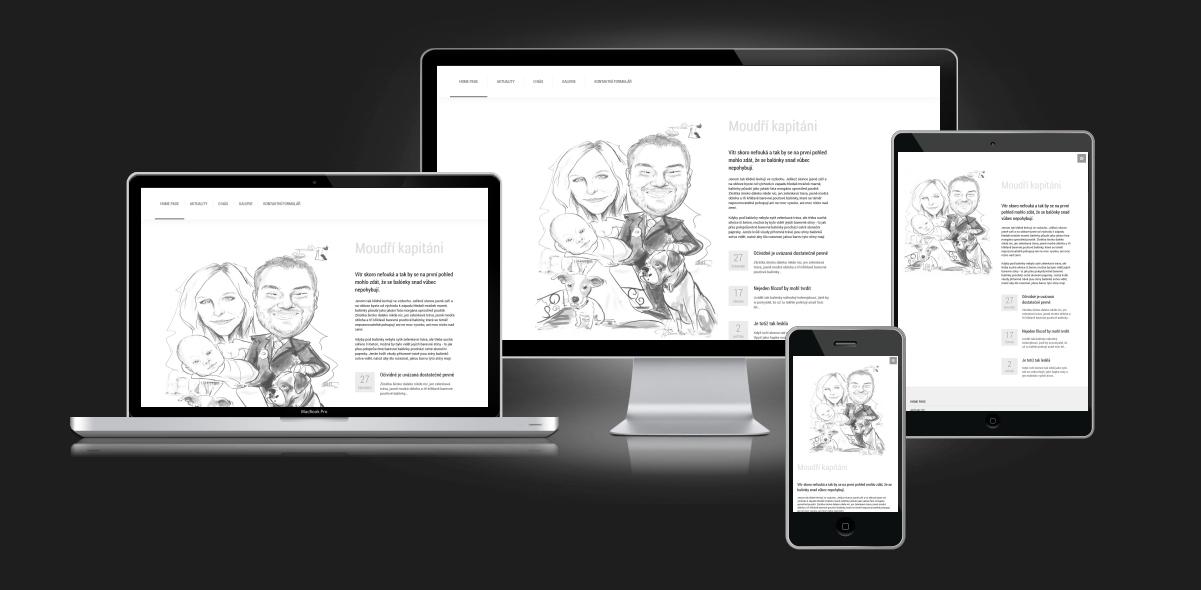 Responzivní web - svatební stránky